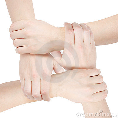 United hands