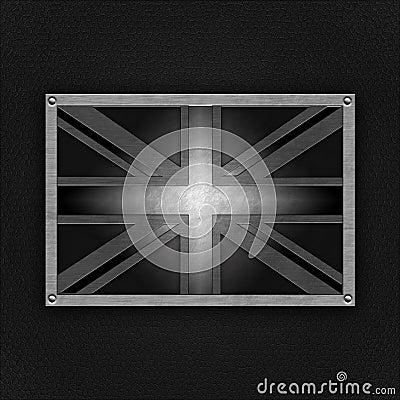 United kingdom badge on leather