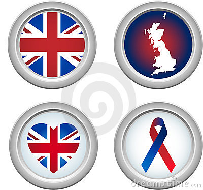 United Kingdom Buttons