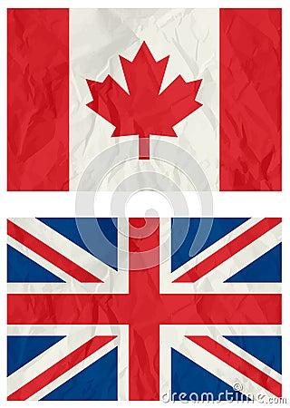 United Kingdom and Canadian flag