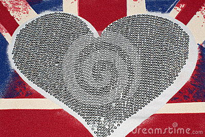 United Kingdom flag and heart