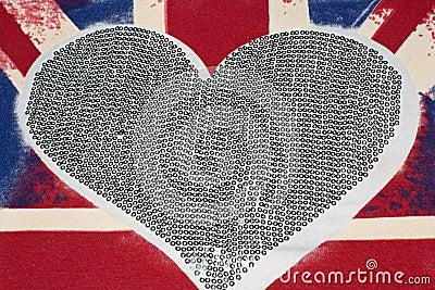 United Kingdom flag and heart