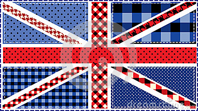 United Kingdom Flag, patchwork