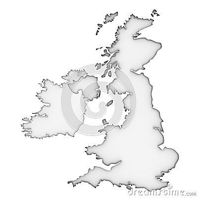 United Kingdom Map Stock Images - Image: 24491624