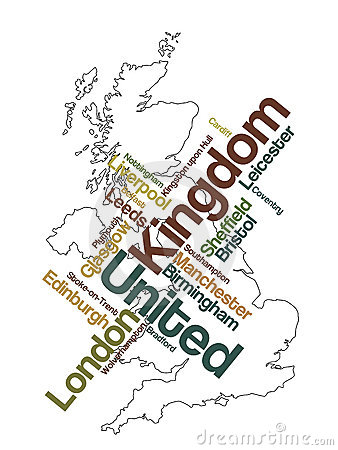 United Kingdom map and cities