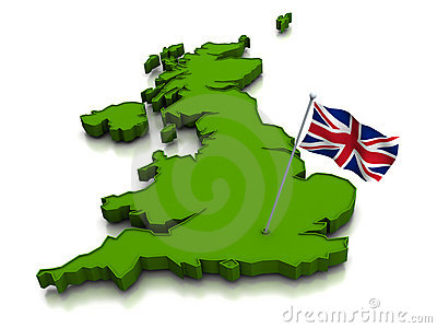 The United Kingdom - Map and Flag