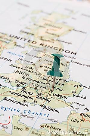 United Kingdom map pin
