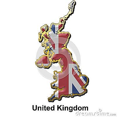 United Kingdom metal pin badge
