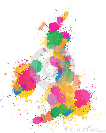 United Kingdom Paint splattered