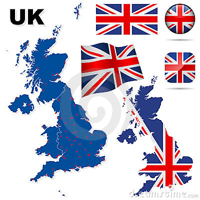 United Kingdom vector set.