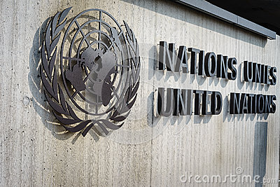 United Nations Badge in Geneva Editorial Stock Image