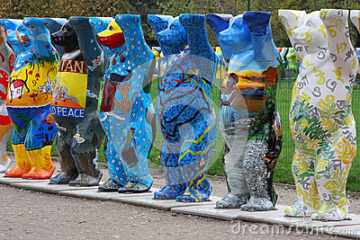United Nations Buddy Bears in Paris Editorial Image