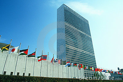 United Nations Building, NY, NY Editorial Photography