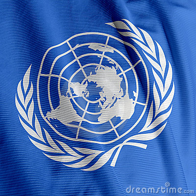 United Nations Flag Closeup