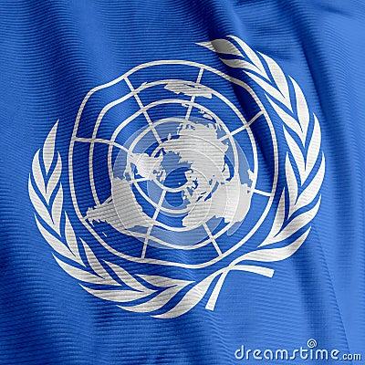 Free United Nations Flag Closeup Stock Photo - 5371270
