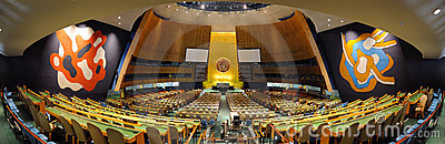 United Nations General Assembly Hall Editorial Photography