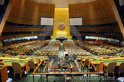 United nations general assembly hall Editorial Stock Image