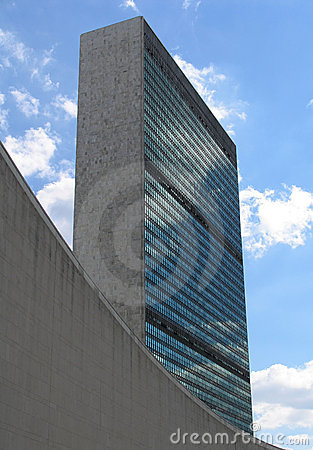 United Nations General Assembly and Secretariat Buildings, Portrait View
