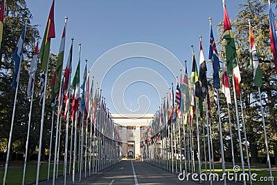 The United Nations  in Geneva - Switzerland