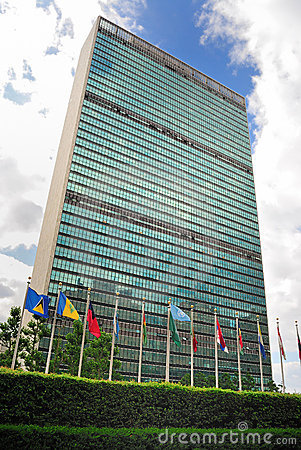United Nations Headquarters Editorial Stock Photo