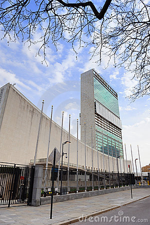 United Nations Headquarters in New York City Editorial Stock Image