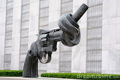 United Nations Knotted Gun Editorial Stock Photo