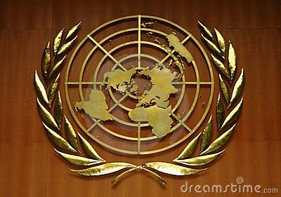 United Nations Logo Editorial Stock Image