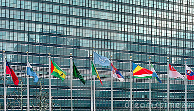 United Nations Flags New York USA