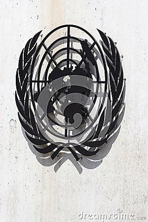 United Nations Symbol Editorial Image
