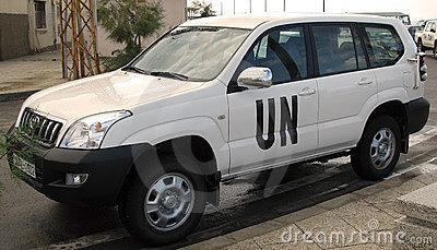 United Nations troops car Editorial Photography