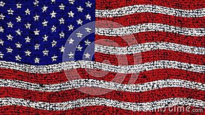 united państwa bandery zbiory wideo