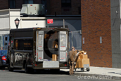 United Parcel Service Truck Editorial Stock Image