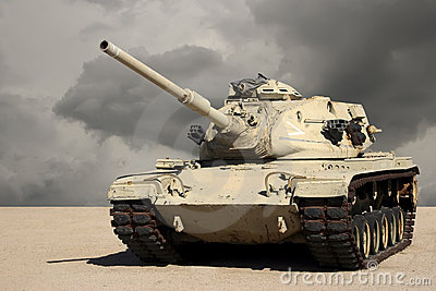 United State Army Tank in the Desert
