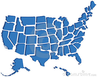 Maps United States Map D - Us map 3d