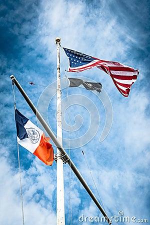 United States of America flag on flagpole