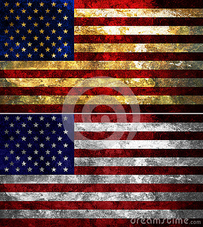 United States Of America texturerade flaggan