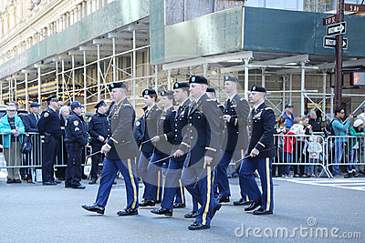 United States Army Rangers marching at the St. Patrick`s Day Parade in New York. Editorial Photography