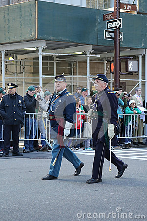 United States Army Rangers marching at the St. Patrick`s Day Parade in New York. Editorial Image