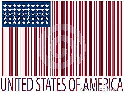 United states bar codes flag