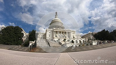 United States Capital Building, Congress - Washington DC Wide Angle Editorial Stock Photo