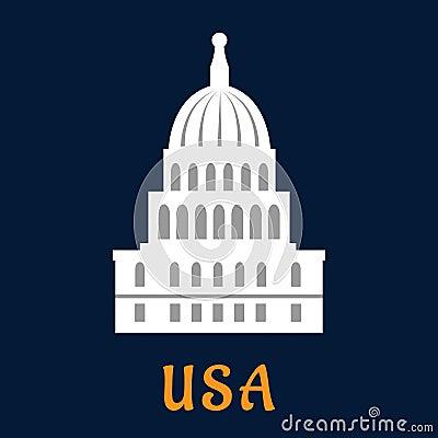 Free United States Capitol Flat Symbol Royalty Free Stock Photo - 56582935