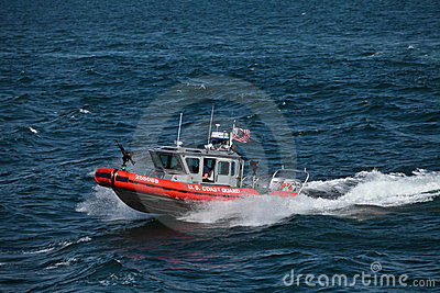 United States Coast Guard gunship Editorial Stock Photo