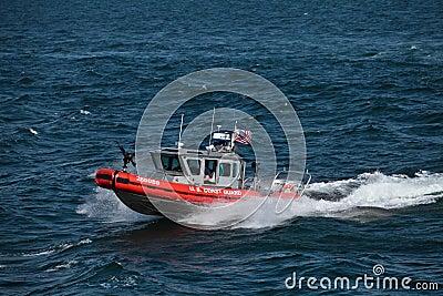 United States Coast Guard gunship Editorial Stock Photo