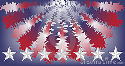 United States colors bunting and stars