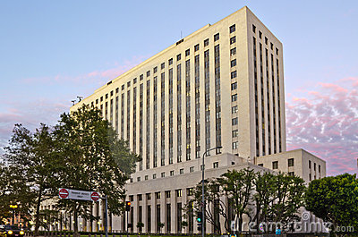 United States Court House in Los Angeles Editorial Image