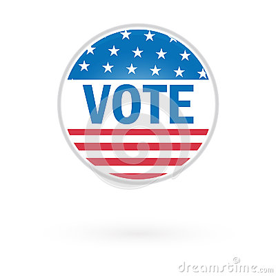 United States Election Vote Button