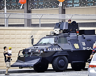 United States Embassy in Korea, police Editorial Photo
