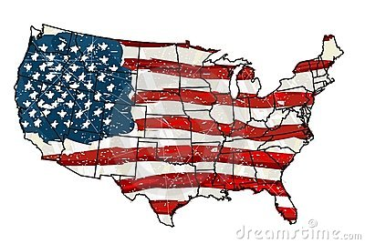 United States with Flag