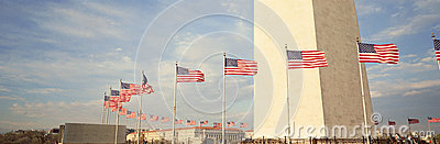 United States Flags Editorial Stock Photo