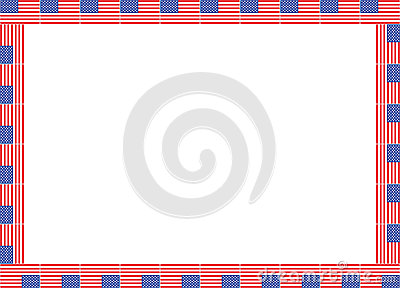 United States flags frame